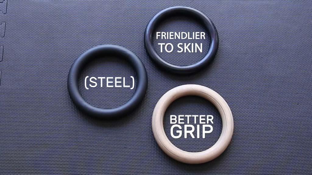 wooden gymnastics rings vs plastic gymnastics rings